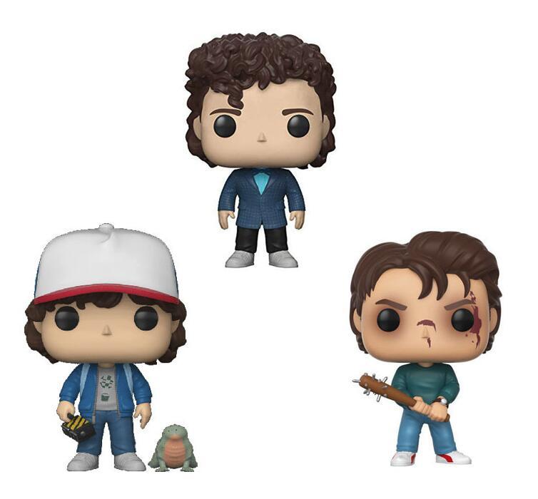 Stranger Things Character Dustin Steve 10cm Action Figure Vinyl Dolls Toys For Collection