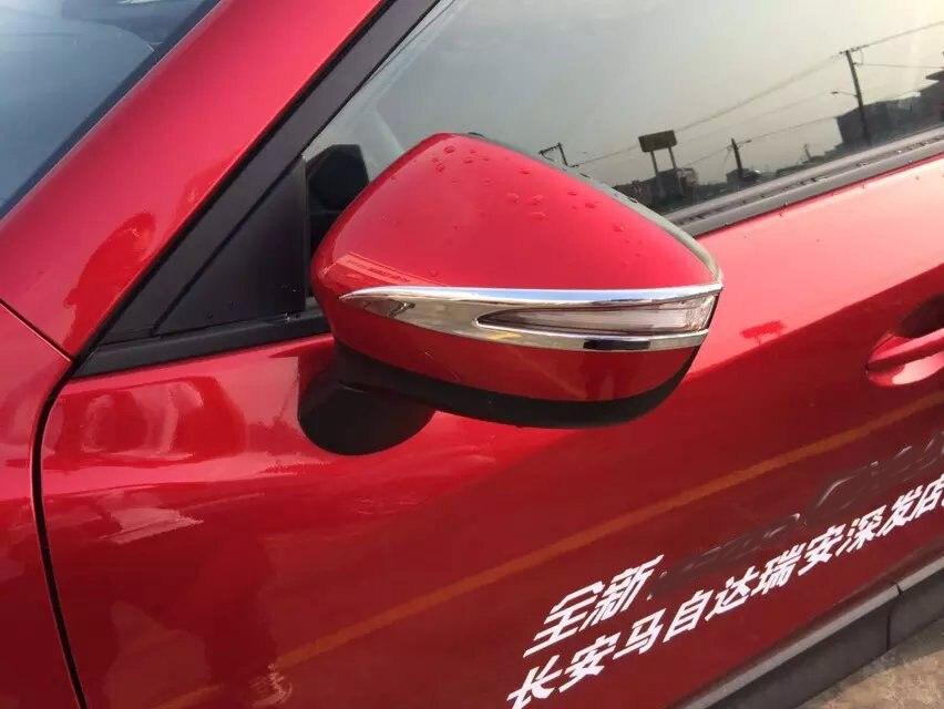 Pro Mazda CX5 CX-5 2015 2016 Kryt zpětného zrcátka Kryt obložení bočních dveří Zrcadlo Ozdobné pruhy 2PCS / SET Chromium Styling