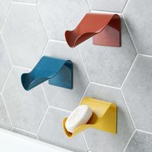 Красочный пробойник свободный слив настенное крепление мыльница пластиковая мыльница для ванной мыло полка для тарелок украшение дома