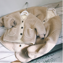 Daughter Family Outfit Girls Mommy Warm Me And for Coat Lining Fur Thicken