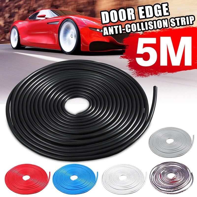 Durável 5 m auto universal porta do carro borda de borracha scratch protector moldagem tiras de proteção de tira de vedação diy carro-estilo