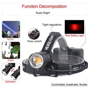 Image 4 - Più brillanti XHP70 LED più potente Fari Pesante nebbia nevoso luce del lavoro XHP70.2 fari torcia ZOOM utilizzare 3x18650 Batteria