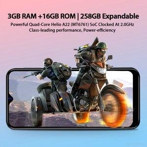 Image 4 - Blackview A60 プロオリジナルスマートフォン 3 ギガバイト + 16 ギガバイト MT6761V 携帯電話アンドロイド 9.0 水滴画面 4080 mah タッチ id 4 グラム携帯電話