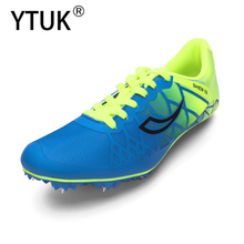 YTUK Men's track and field shoes women's spiked shoes sprint running shoes lightweight  breathable professional sneakers
