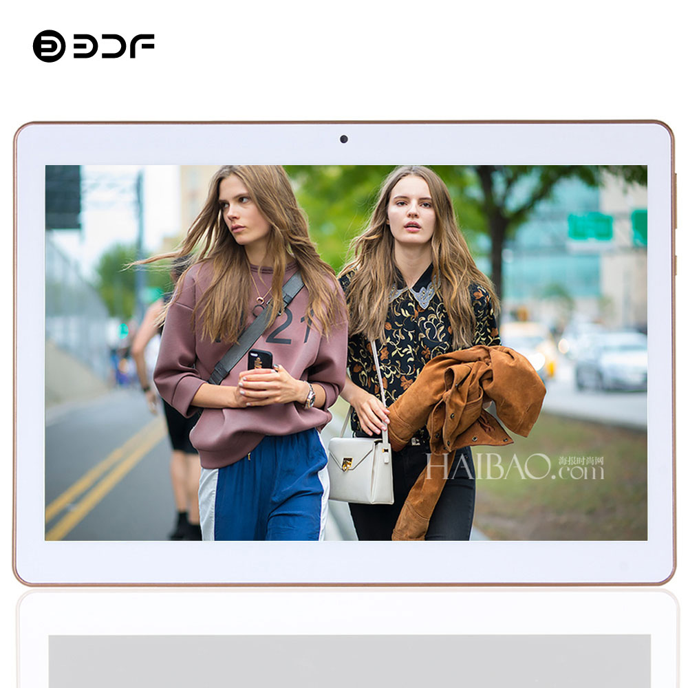 BDF 2020 New 10 Inch Android 7.0 Tablet Quad Core 1GB RAM 32GB ROM Tablets 1280*800 IPS Dual SIM Cards 3G Phone Call Tablet Pc