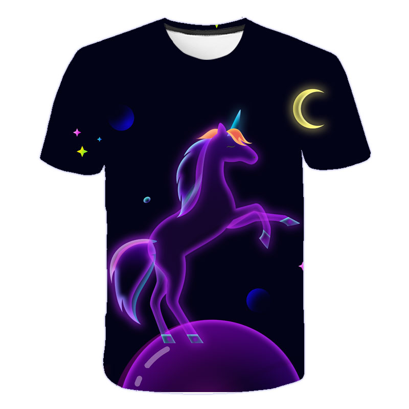 H475bdaeab6444793aed166a21bacf3ebD Baby Girls T-shirt 4 5 6 7 8 9 10 11 12 13 14 Years Unicorn Kids T Shirt Children Clothes Summer Unicorn T shirts Girl s Tee