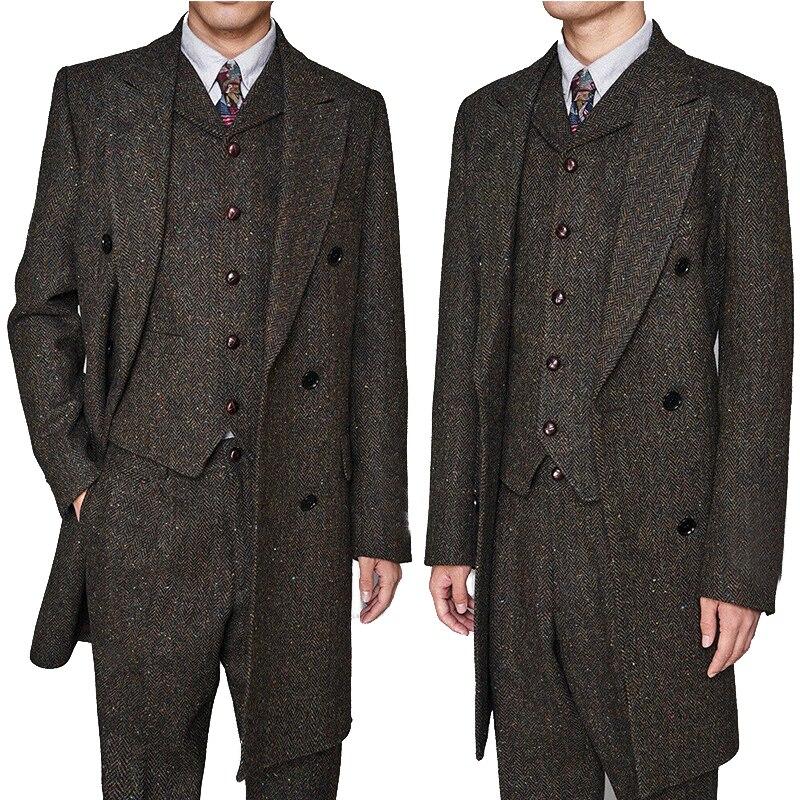 Mens Party Suits Business Suits Mens Stage Clothing Mens Slim Fit Suits  Party Wear Prom Dress 3Pieces Suits(Jacket+Pants+Vest)
