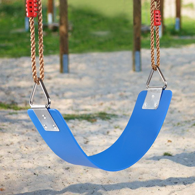 EASY-Outdoor Children's Swing Seat EVA Heavy Duty Swing Accessories With Metal Triple-cornered Ring 300Kg /660 Lb Weight Limit O