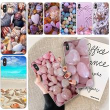 цена на LJHYDFCNB Sea shell Phone Case Cover For iphone 6 6s plus 7 8 plus X XS XR XS MAX 11 11 pro 11 Pro Max Cover