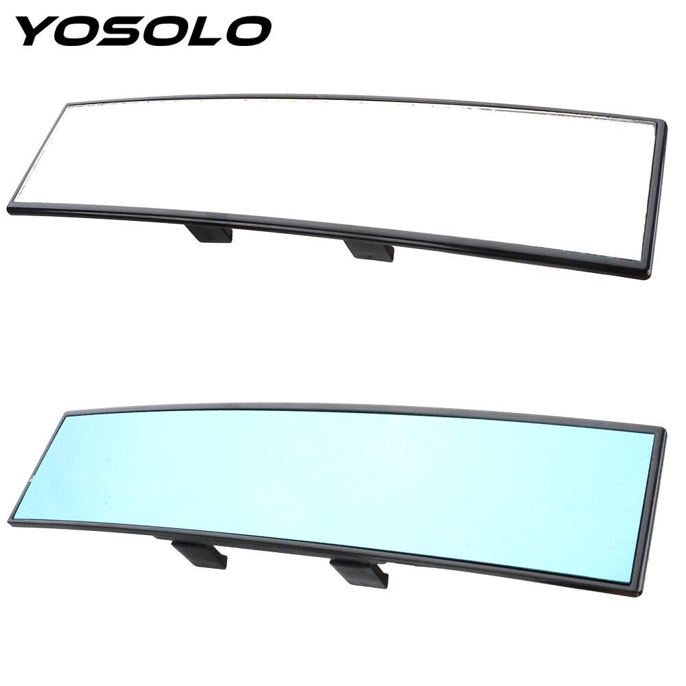 YOSOLO 각도 파노라마 300mm 대형 비전 눈부심 방지 자동차 후면보기 미러 베이비 백미러 미러 자동차 인테리어 액세서리