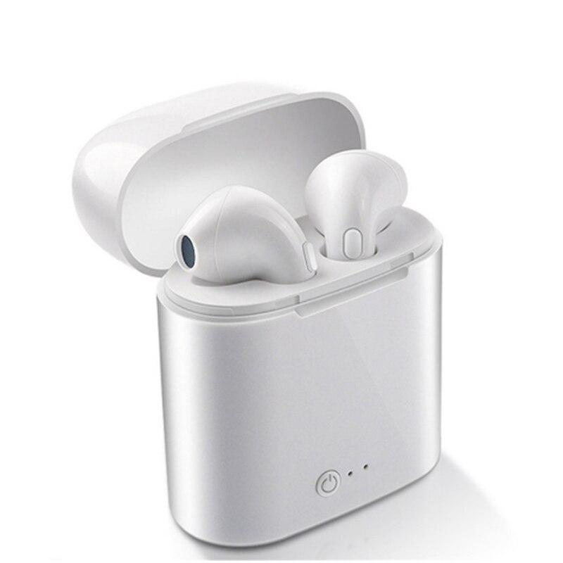 I7s TWS беспроводной bluetooth-наушник наушники I7 спортивные наушники гарнитура с микрофоном для смартфона iPhone Xiaomi samsung huawei LG - Цвет: i7s-white