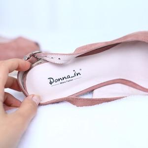Image 4 - דונה ב פלטפורמת סנדלי טריז נשים אמיתי עור סופר גבוהה עקבים פתוח הבוהן חוף אופנה נשי 2020 קיץ גבירותיי נעליים