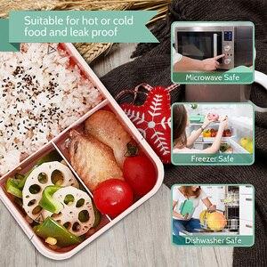 Image 4 - Zamknięte pudełko na Lunch kuchenka mikrofalowa słoma pszeniczna Bento dla dorosłych pojemnik do przechowywania żywności dla dzieci Bpa bezpłatny styl japoński obiad szkolny