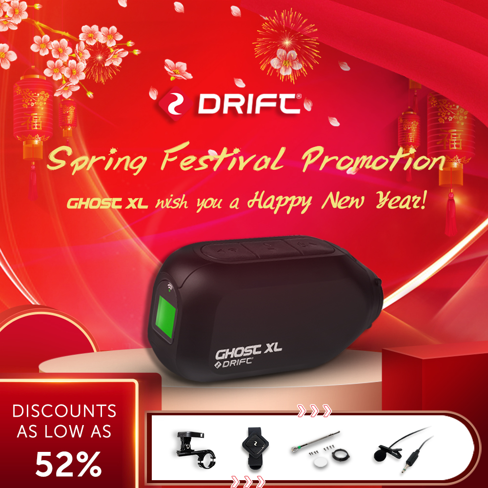 New Arrival Drift Ghost XL Action Camera Sport Camera 1080P Motorcycle Mountain Bike Bicycle Camera Helmet Cam with WiFi image