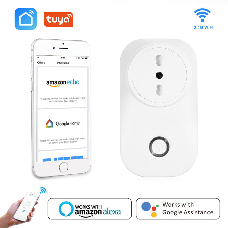 Chile Smart Plug Italy Wifi Socket IT CL 16A Power Monitor Voice Control Works With Alexa Google Home IFTTT Tuya Life
