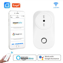 Chile Smart Plug Italy Wifi Socket Plug IT CL 16A Power Monitor Voice Control Works With Alexa Google Home IFTTT Tuya Smart Life mini smart eu plug wifi control power 16a socket energy monitoring timer switch voice control works with alexa google and ifttt