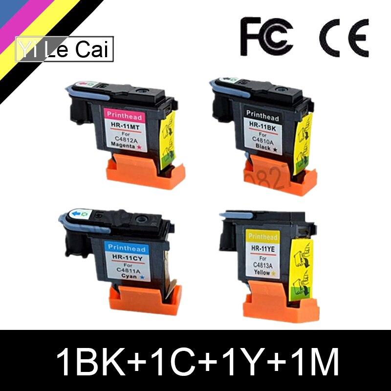 Htl c4810a c4811a c4812a c4813a cartucho de tinta da cabeça de impressão para hp 11 hp 11 para hp 500 800 100 110 50 cv k850 1200 2250 1700 2600 2230