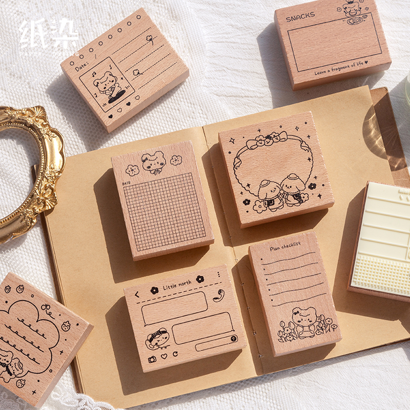 8PCS/LOT beibei's life record series stamp DIY wooden rubber stamps for scrapbooking stationery scrapbooking standard stamp