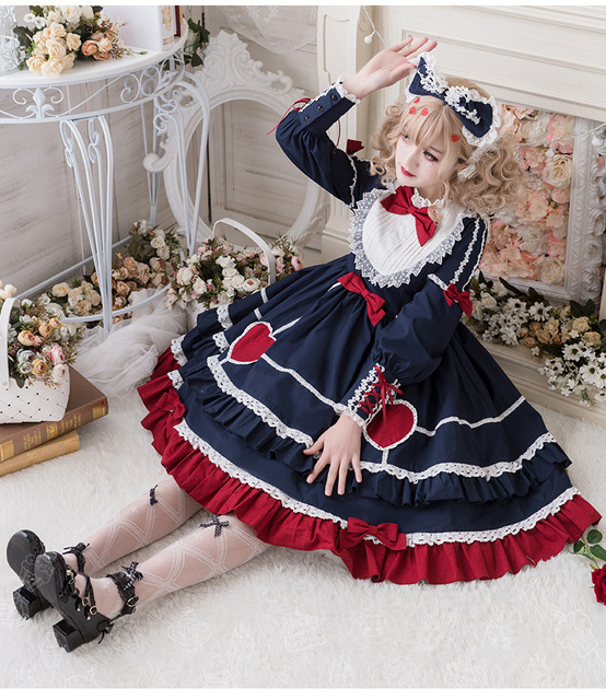 Фото готический дворец милое платье в стиле лолиты винтажное кружевное