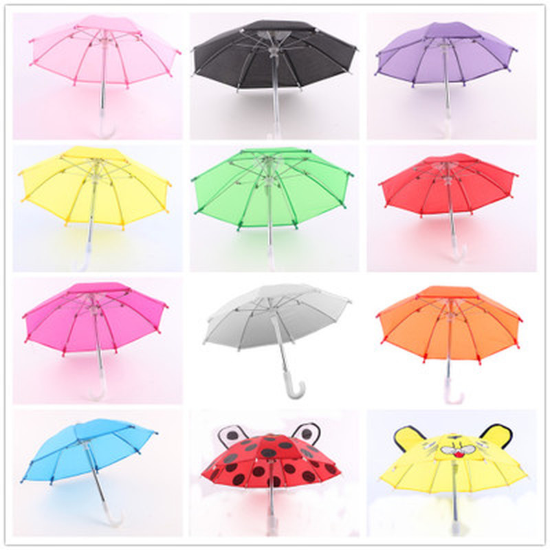 1pc Mini Umbrella Rain Gear for 18 Inch American Baby Doll Life Journey Dolls Accessory Birthday Gift for Children(China)