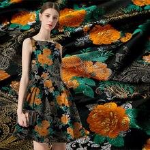 Цветочное жаккардовое платье искусственная декоративная ткань