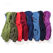 Children's polar Fleece jacket Autumn winter kids outdoor thick thermal fleece hood coat Boys and Girls Mountaineering clothes