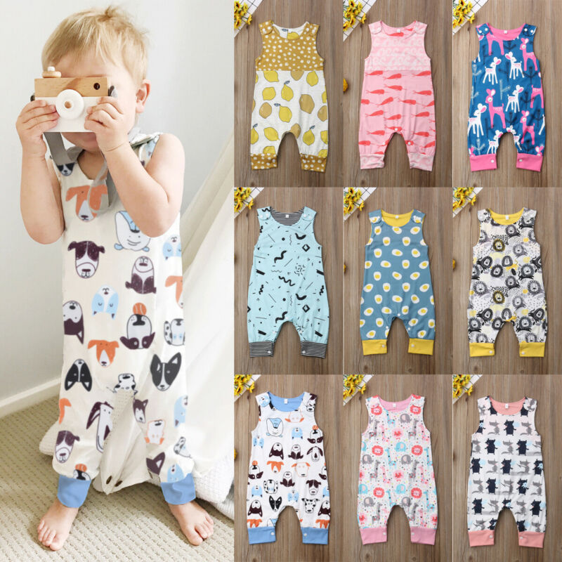 Newborn Infant Kids Baby Girl Animal Romper Jumpsuit Bodysuit Clothes Outfit Set