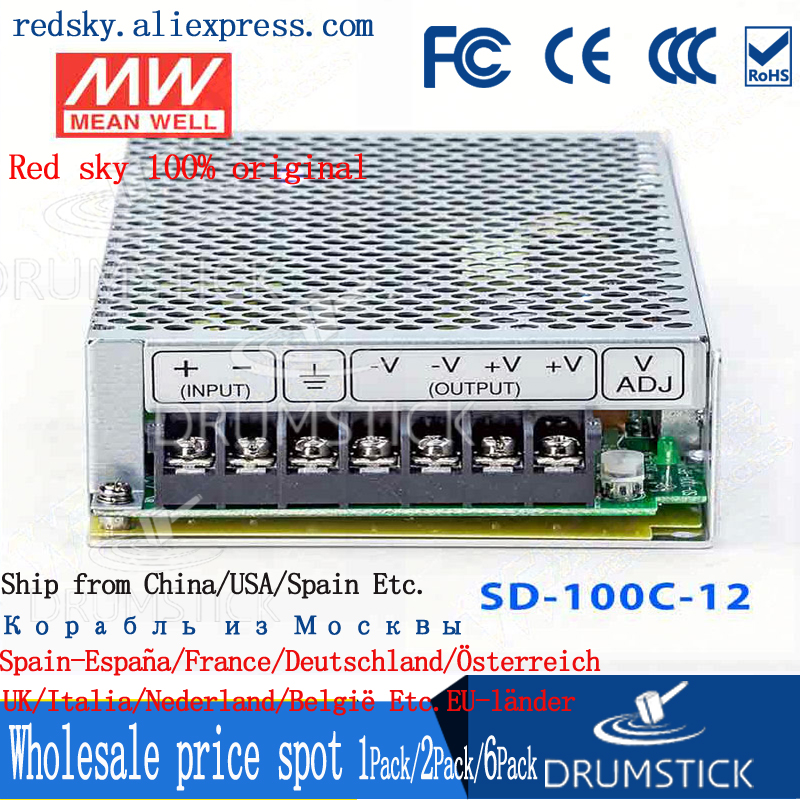 nice MEAN WELL 2Pack SD-100C-12 12V 8.5A meanwell SD-100 12V 102W Single Output DC-DC Converter