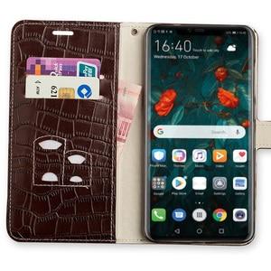 Image 5 - Flip Case For Huawei P10 P20 P30 lite Mate 10 20 lite Pro  Y6 Y7 Y9 P Smart 2019 Crocodile Grain For Honor 7X 8X 9 9X 10 20 lite