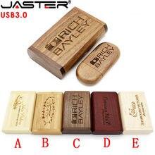 JASSTER-memoria USB 3,0 con logo personalizado, caja de embalaje, pendrive de 4GB, 8GB, 16GB, 32GB y 64GB, regalo de fotografía, 1 Uds.
