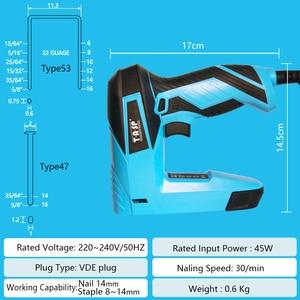 Image 3 - TASP 230V 2 ב 1 חשמלי Nailer ומהדק ריהוט אקדח סיכות עבור מסגרת עם סיכות & ציפורני נגרות נגרות כוח כלים