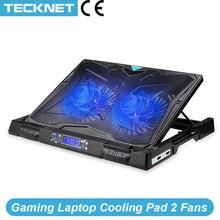 TeckNet الألعاب المحمول لوحة التبريد 2 المشجعين مع شاشة LED برودة حامل وسادة التبريد ل 12 17 بوصة محمول دفتر ماك بوك برودة