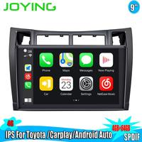 9Android 8.1 Car Radio Stereo Octa Core Head Unit For Toyota Yaris 2008 2011 GPS Navigation Multimedia Player Steering Wheel BT