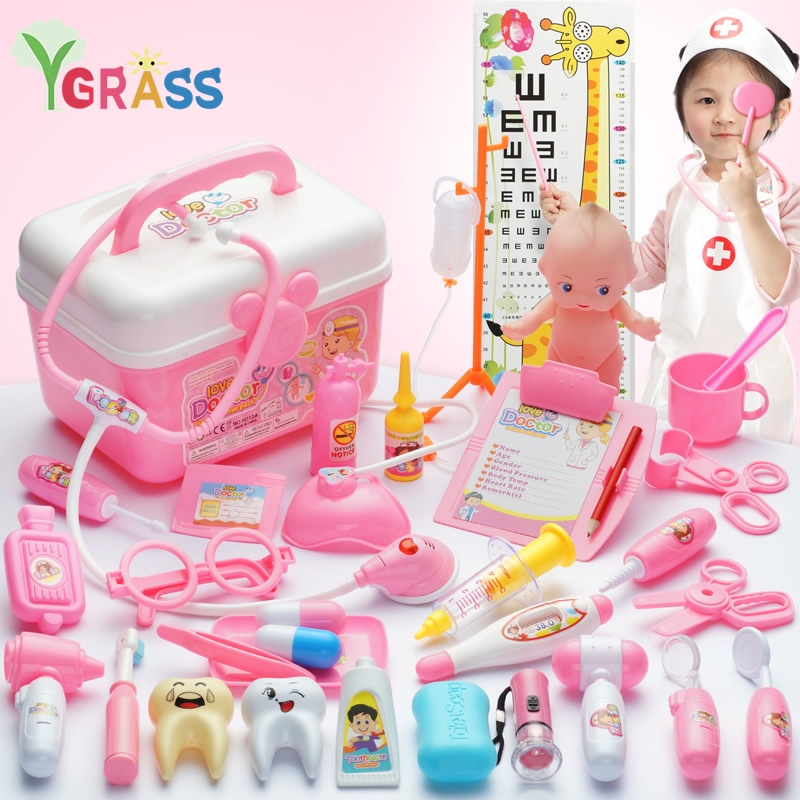 Doctor Toys Kids Role-Playing Games Medicine Pretend Play Set Doctor's Recruitment Nurse Educational Child Gift For Girls 3 Year