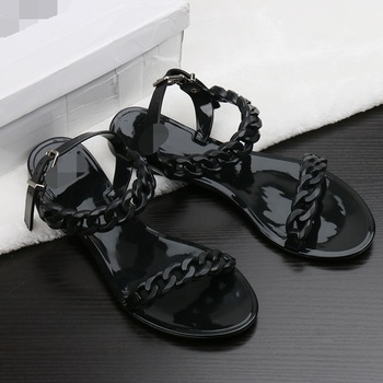 2019 Summer Casual Jelly Shoes Women Sandals Flats Beach Sandals Fashion Valentine Holiday Woman Shoes Flip Flops Size 36-40 2020 summer casual jelly shoes slippers women sandals flats slippers fashion holiday beach woman shoes flip flops colorful shoes