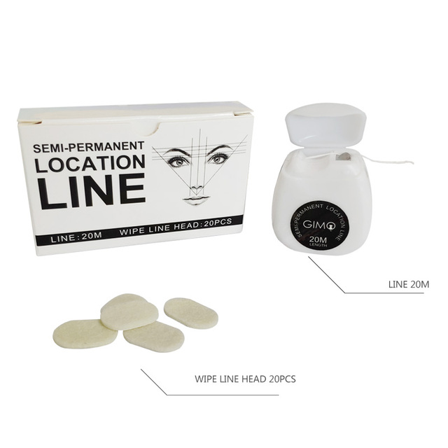 New Microblading MAPPING STRING Pre-Inked Eyebrow Marker thread Tattoo Brows Point 10m Pre Inked tattoo PMU string for mapping