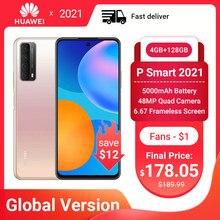 Huawei P akıllı 2021 Smartphone küresel sürüm 4GB 128GB NFC 48MP dört kamera 5000mAh pil 6.67 çerçevesiz ekran cep telefonları