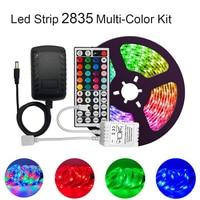СИД полосные осветители для 2835 мульти-Цвет комплект IP65 Водонепроницаемый Гибкая RGB 300 светодиоды с 44-клавишным пультом управления AC/DC 12V Пита...