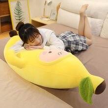 Подушка банан для девушек спавших на кровати с ногами Зажимная