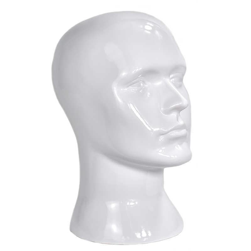 Wysokiej jakości realistyczne plastikowe męskie manekin głowa do manekina na kapelusz/peruka/maska/okulary wyświetlacz głowy manekina