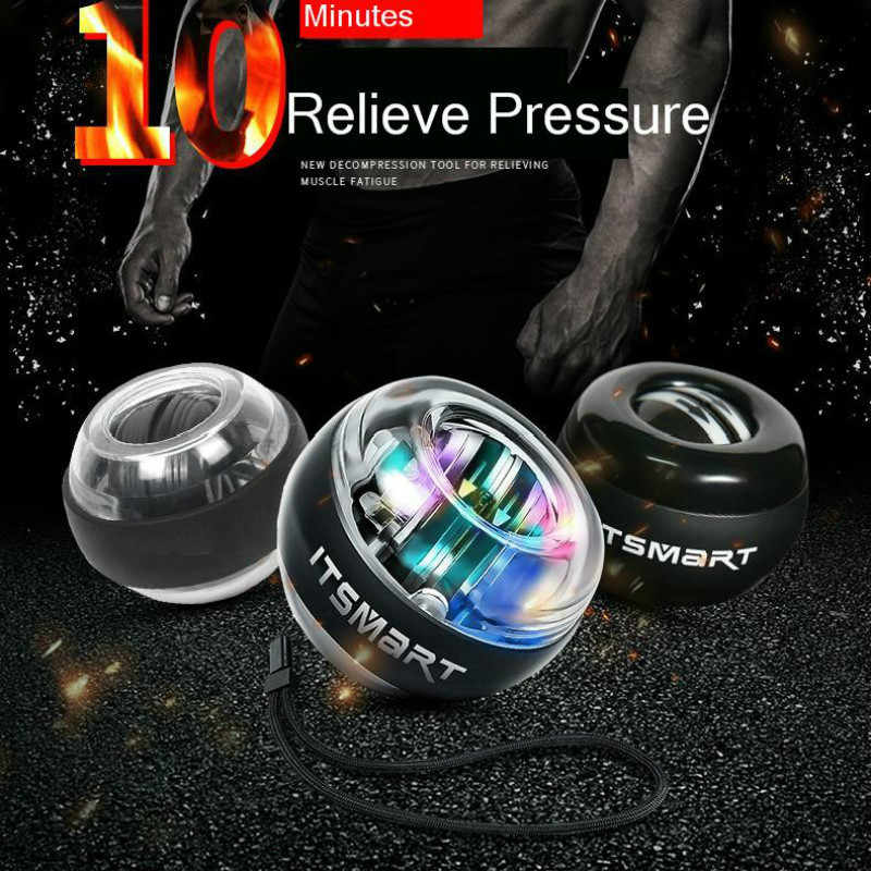 Auto Start Power Wrist Ball Otot Kekuatan Memperkuat Pelatihan Pressure Relieve Gym Power Kebugaran Latihan Bola Dropshipping