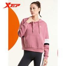 Xtep свитер 2020 Осень Новый женский свободный спортивный топ