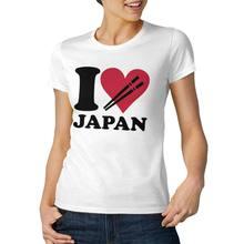 Eu amo japão legal e engraçado manga curta casual moda algodão camiseta