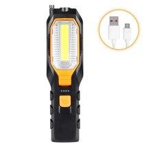 Портативный Рабочий фонарь на крючке, вращающийся, для кемпинга, светодиодный, открытый, аварийный светильник, водонепроницаемый, ночной, для ремонта автомобиля, магнитный, для дома, зарядка через usb