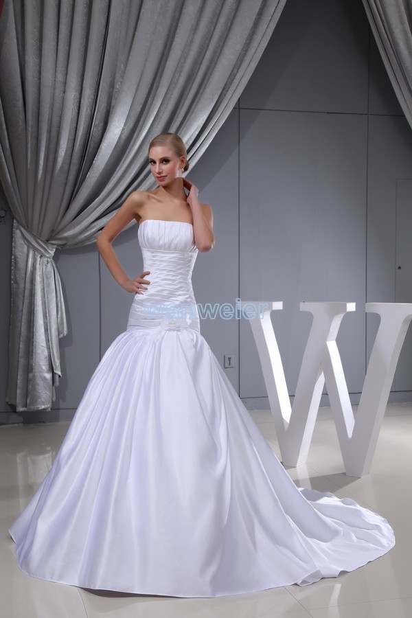 Free Shipping 2017 New Design Sale Princess Dress Ball Gown Wedding Custom Size/color With Train Bridal Gown White Wedding Dress