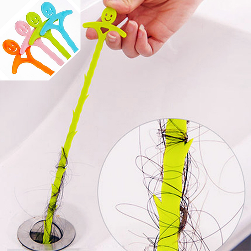 51cm Sink Cleaning Hook Bathroom Floor Drain Sewer Dredge Device  Hair Cleaning Brush Hair Stoppers Catchers Kitchen Tool PTCS