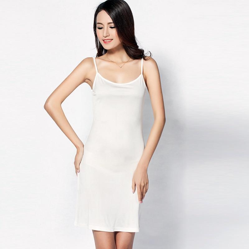 100% Pure Silk Women's Full Slips Femme Black Underskirt Women Sexy Petticoat Ladies Underdress Female Lingerier Woman Slip