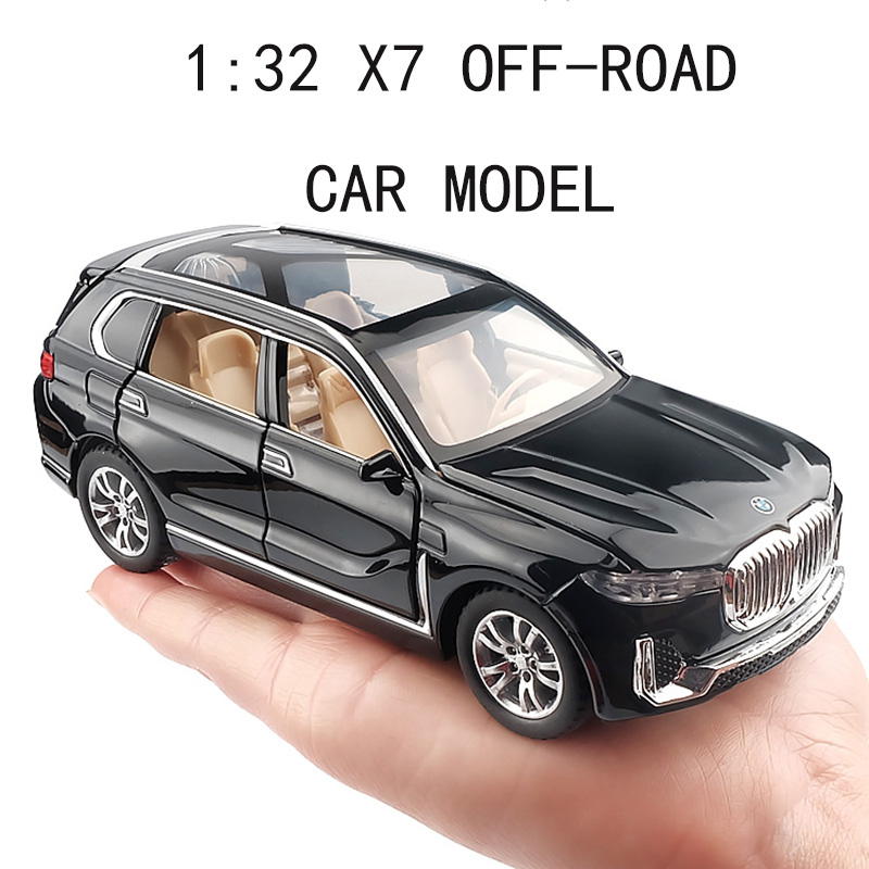 1:32 X7 Simulation Alloy Toy Cars Diecast X7 Pull Back SUV Car Model Children Toys Off-road Vehicles Decorations Christmas Gift