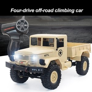 B-14 1/16 2.4GHz RC Crawler Off-road Military Truck Car with Headlight RTR Automatic Vehicle Toys Car for Children Gifts HOT!
