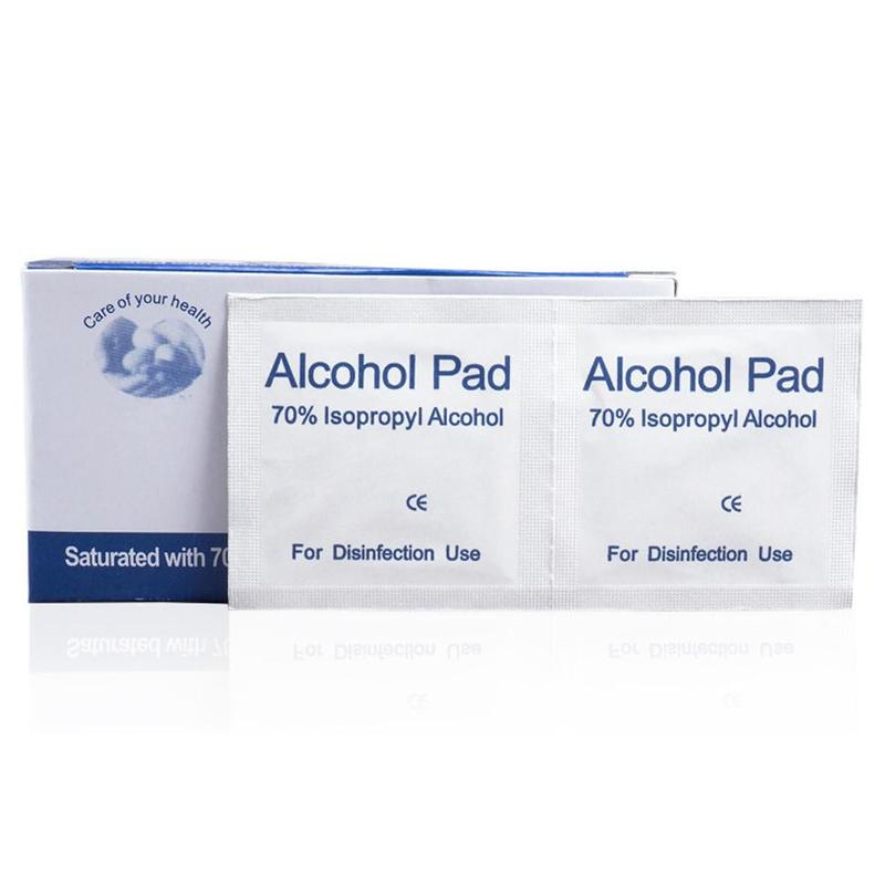 50Pcs Alcohol Wet Wipe Disposable Disinfection Prep Swap Pad  Antiseptic Skin Cleaning Care Clean Wipe